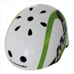Kawasaki Freestyle helm wit-groen